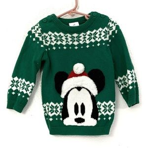 Disney Mickey Mouse Fair Isle Christmas Sweater